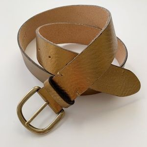 NWT J. Crew Gold Leather Belt